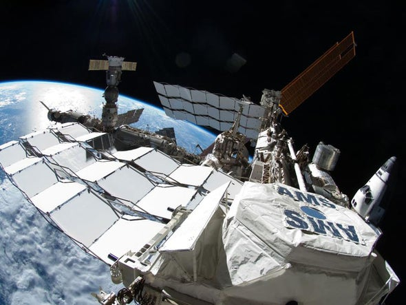 Spacewalker Snaps a Close-Up of the Final Shuttle Visit to the Space Station