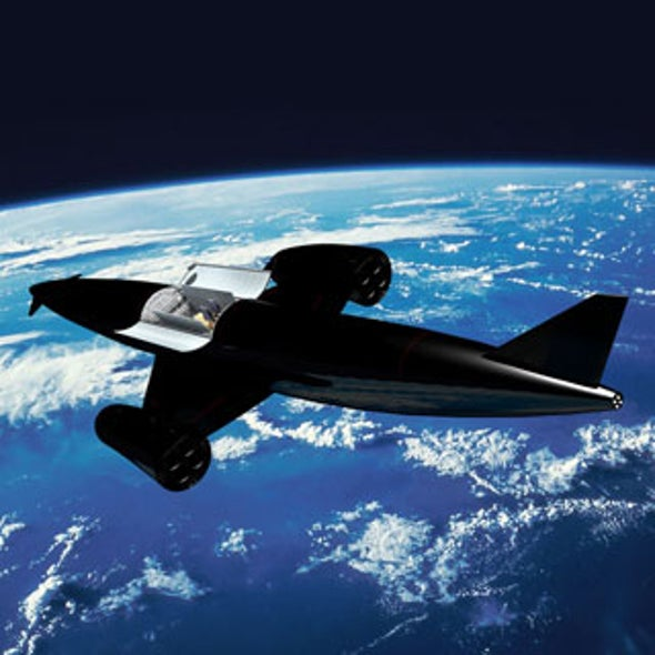 Flying a Reusable Space Plane Directly to Orbit