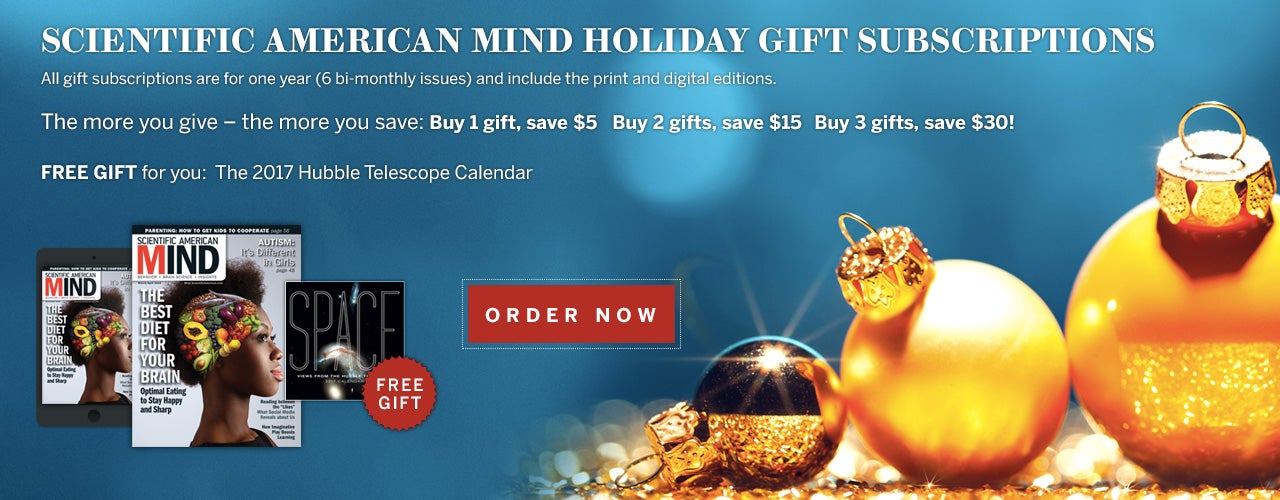 Scientific American Mind Holiday Gift Subscriptions