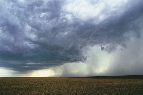 Farm Fields Release Carbon Mist during Rainstorms