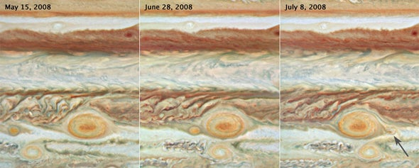 Great Red Spot Consumes Baby Spot