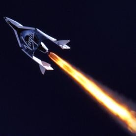 Virgin Galactic's SpaceShipTwo suborbital space plane makes its first rocket-powered test flight