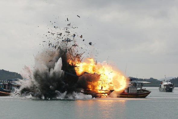 Blowing Up Illegal Fishing Boats Helps Indonesian Fishers