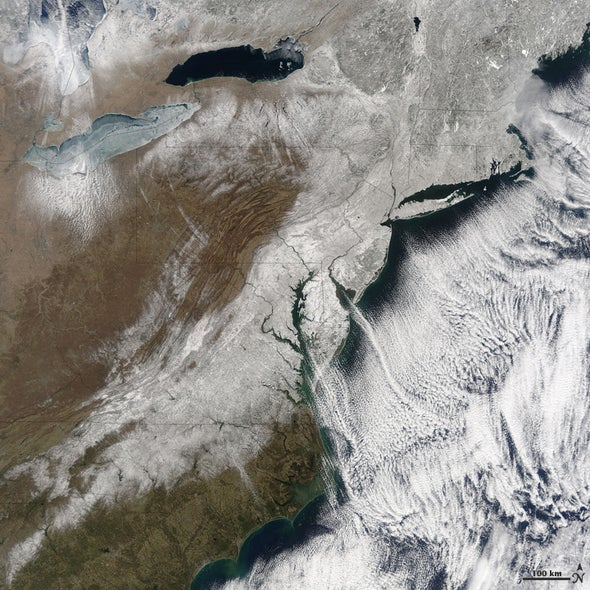 Snowstorm from space