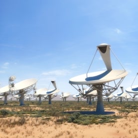 Square Kilometer Array radio dishes in South Africa