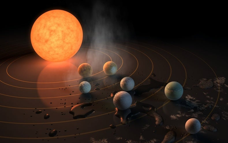 Image result for 7 earth size planets