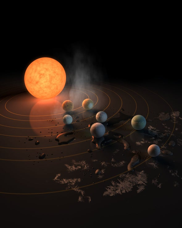 Nearby Star Hosts 7 Earth-Size Planets