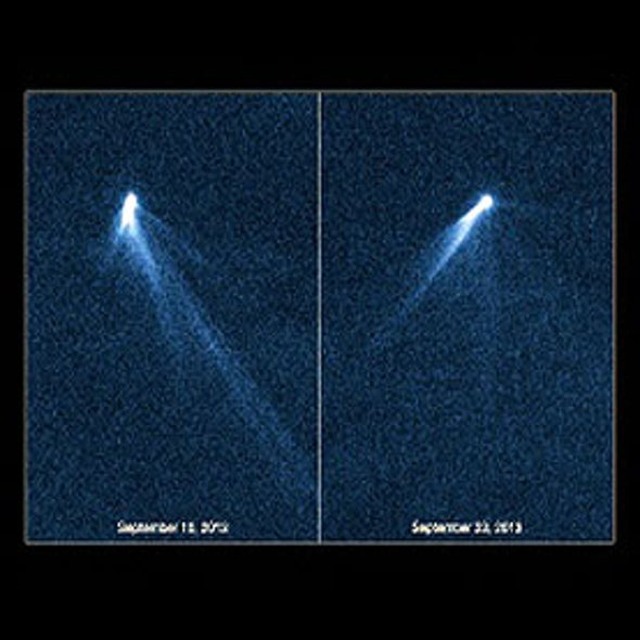 Space Telescope Spots Unprecedented Asteroid with 6 Tails