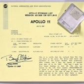 FLOWN <i>APOLLO 11</i> LUNAR SUFRACE EQUIPMENT WITH LUNAR DUST