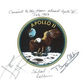 MICHAEL COLLINS'S FLOWN <i>APOLLO 11</i> EMBLEM