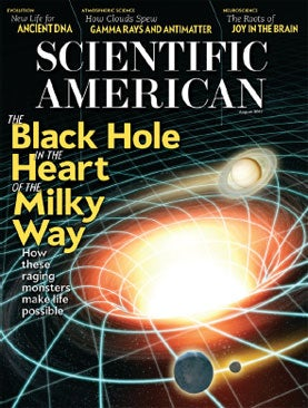 August 2012 Scientific American, Black Hole, Milky Way