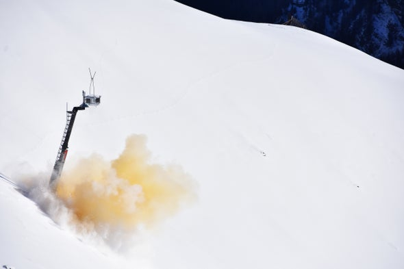 Explosive Charges Protect Backcountry Skiers