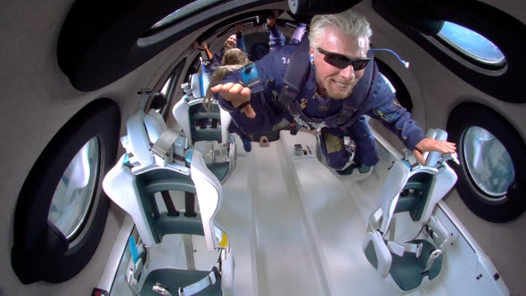 Virgin Galactic Launches Richard Branson to Space in First Fully Crewed Flight of VSS Unity
