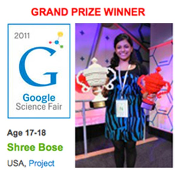Teenage Cancer Researcher Wins Top Prize at Google Science Fair