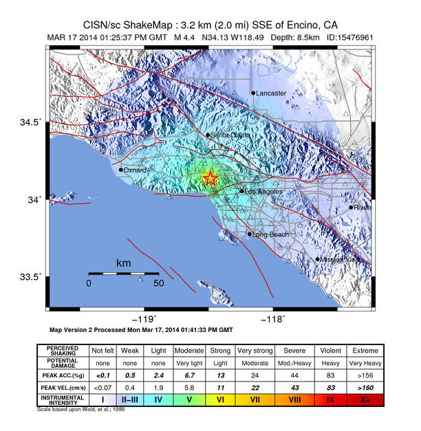A Small Fault Caused Monday's Earthquake in Los Angeles