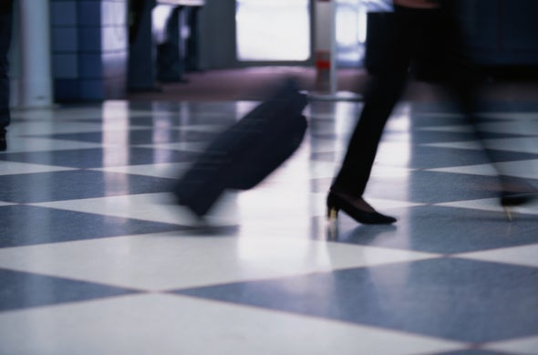 Keep Rolling Luggage Upright with Physics