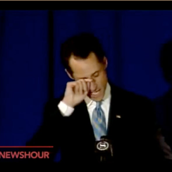 Why'd He Have to Go and Cry? Weiner's Tears May Have Generated Contempt