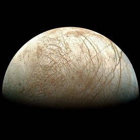 """Jupiter's Moon Europa May Have """"Spikes of Ice"""""""