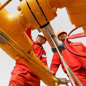 gas well in China