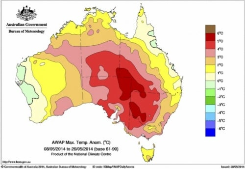 Global Warming Plays a Role in Australia's Record Heat