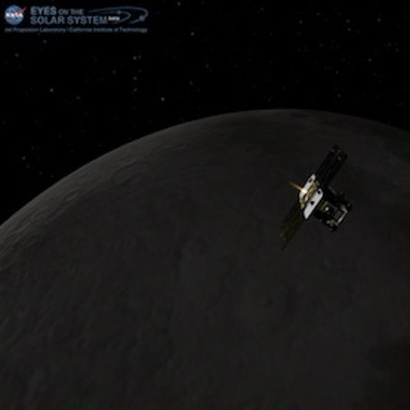 Twin Moon Probes Start New Year by Entering Lunar Orbit