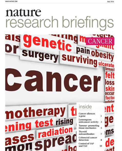 Nature Research Briefings: Cancer