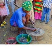 A woman in the Kamboma village