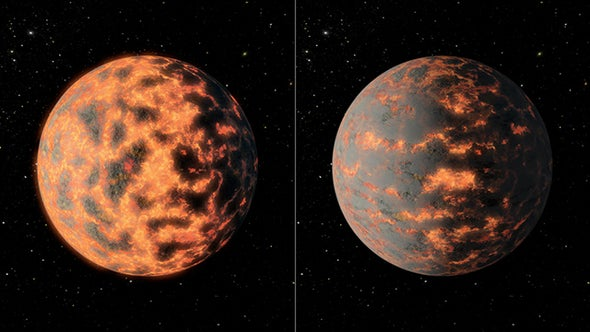 Nearby Super-Earth May Harbor Huge Volcanoes