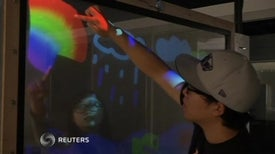 Double-Sided Touchscreen Creates Unique Interactive Space