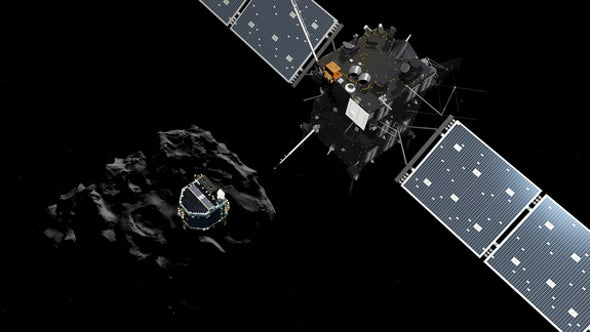 Comet-Chasing Rosetta Spacecraft Releases Probe for Ambitious Landing Attempt