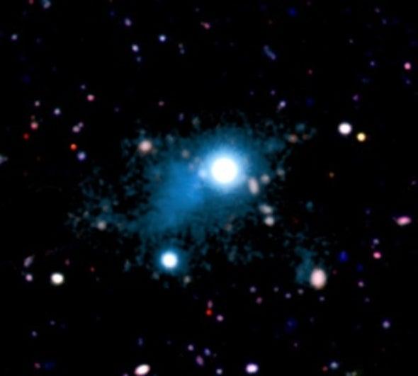 Light from Ancient Quasar Reveals Intergalactic Web