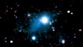 Light from Ancient Quasar Reveals Intergalactic Web