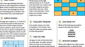 Can You Solve These Mensa Puzzles?