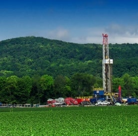 natural gas drilling rig in PA