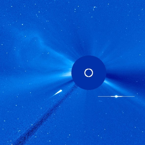 Comet-kazi: Sun-observing spacecraft spots a comet's demise
