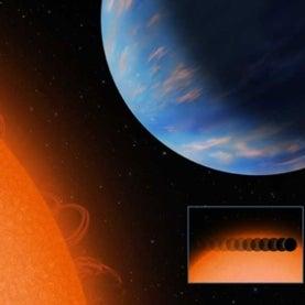 blue exoplanet