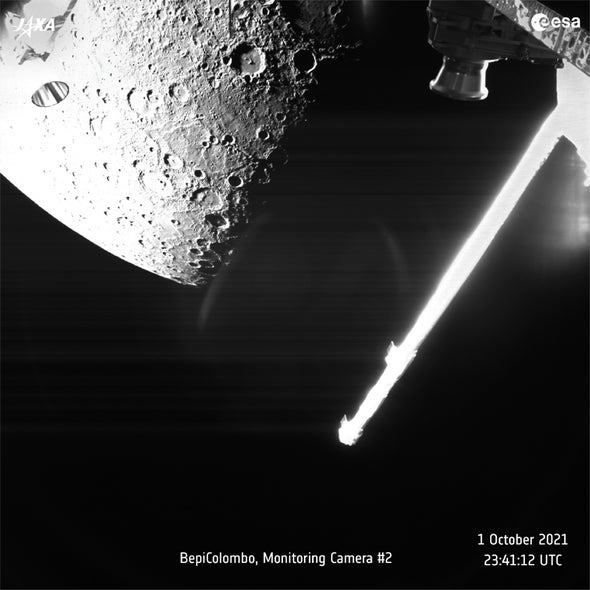 Mercury Dazzles in New Close-up from BepiColombo Mission