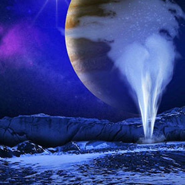 Jupiter's Moon Europa Spotted Spouting Water