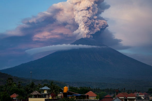 Scientists Watch and Wait as Bali's Menacing Volcano Rumbles