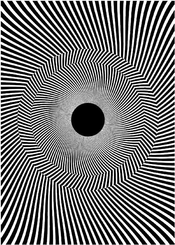 Line Optical Designing : The rotating tilted lines illusion