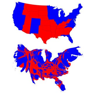 Beyond Red And Blue Ways To View The Presidential Election Map - Us population map 1797