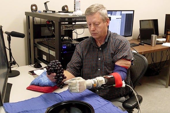 "A Robot Hand Helps Amputees ""Feel"" Again"