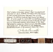 <i>APOLLO 12</i> LM STRAP WITH LUNAR DUST–USED INSIDE INTREPID ON THE MOON