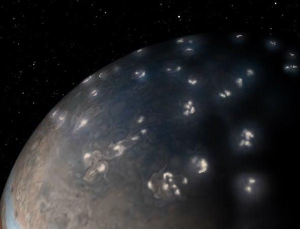 Jupiter Crackles with Polar Lightning
