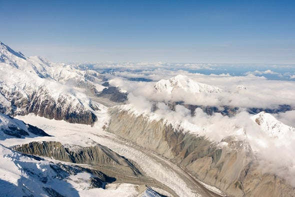 Glacier Is Surging Down Denali Mountain in Alaska