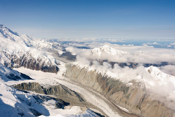 Glacier Is Surging Down Denali Mountain in Alaska