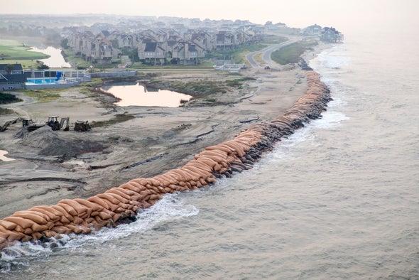 Rich Residents Build Defenses against Rising Seas; Poor Ones Leave