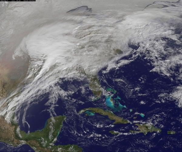 Big Snow: Satellite observes massive snowstorm blanketing the U.S.