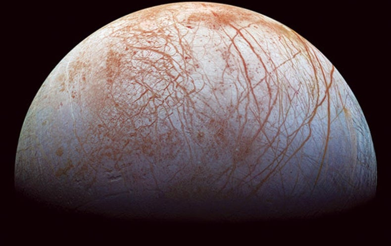 "Europa's ""Brown Gunk"" Suggests a Briny Sea"