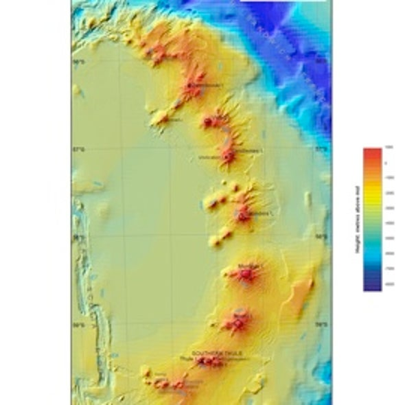 Hot and Cold: Long-Suspected Antarctic Undersea Volcanoes Discovered